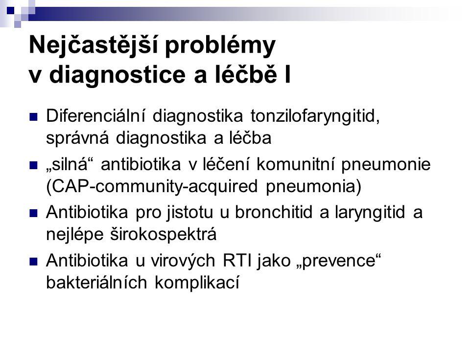 Nejčastější problémy v diagnostice a léčbě I