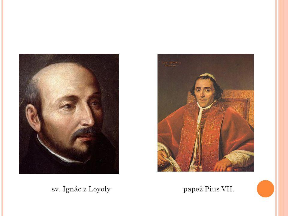sv. Ignác z Loyoly papež Pius VII.