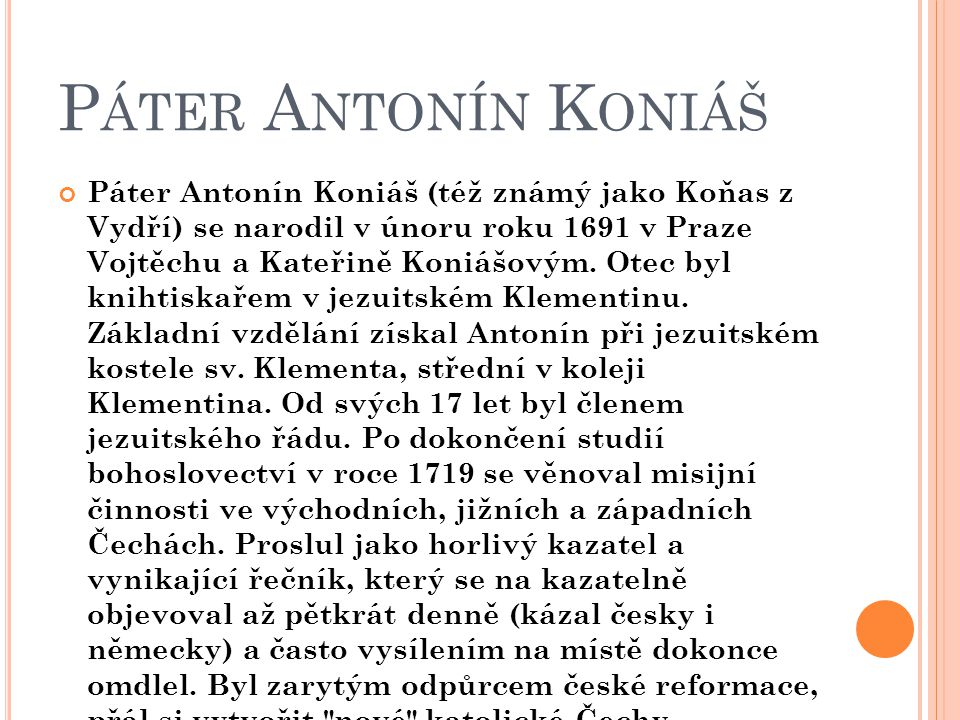 Páter Antonín Koniáš
