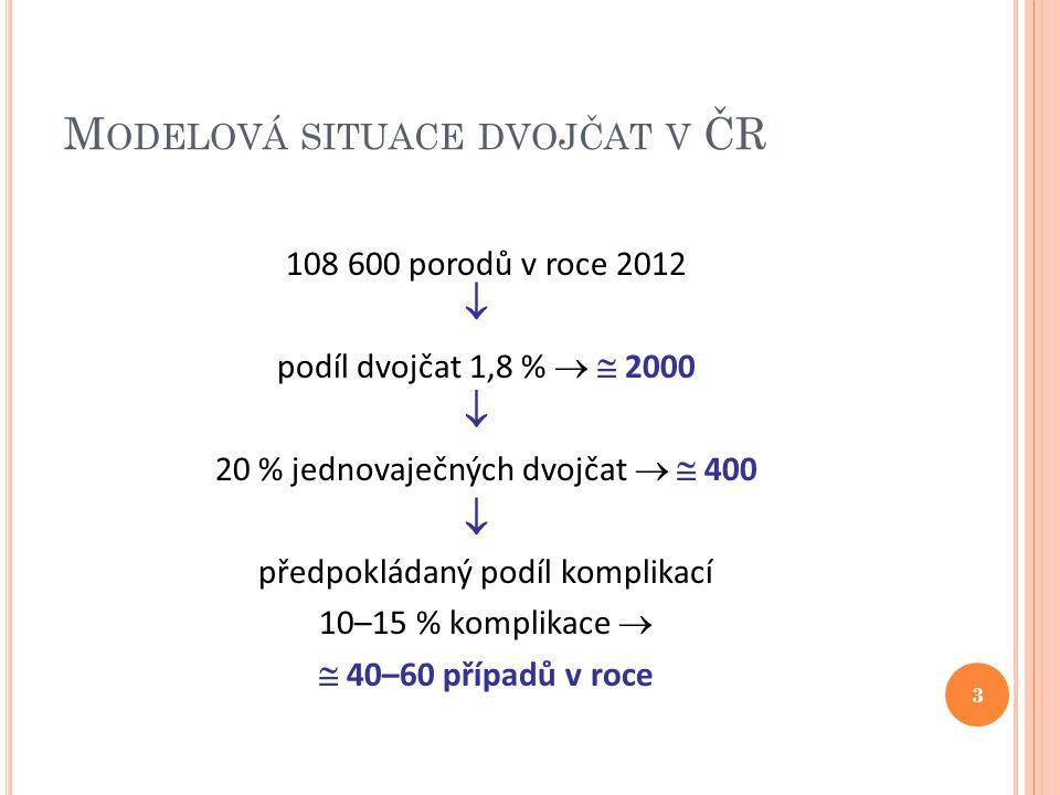 Modelová situace dvojčat v ČR