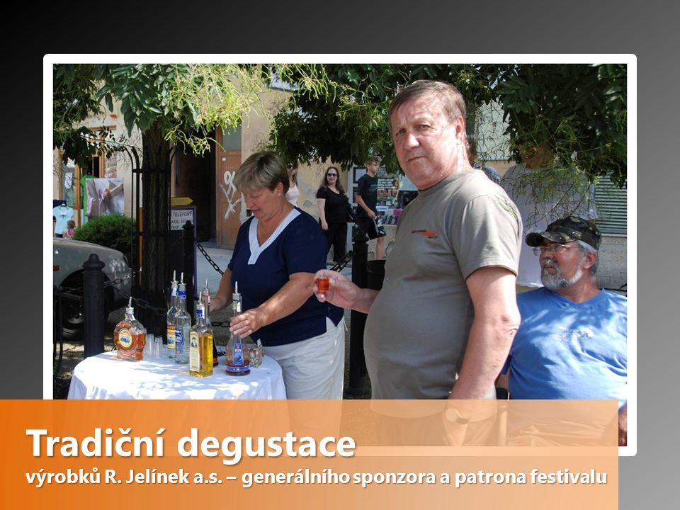 Tradiční degustace výrobků R. Jelínek a.s. – generálního sponzora a patrona festivalu