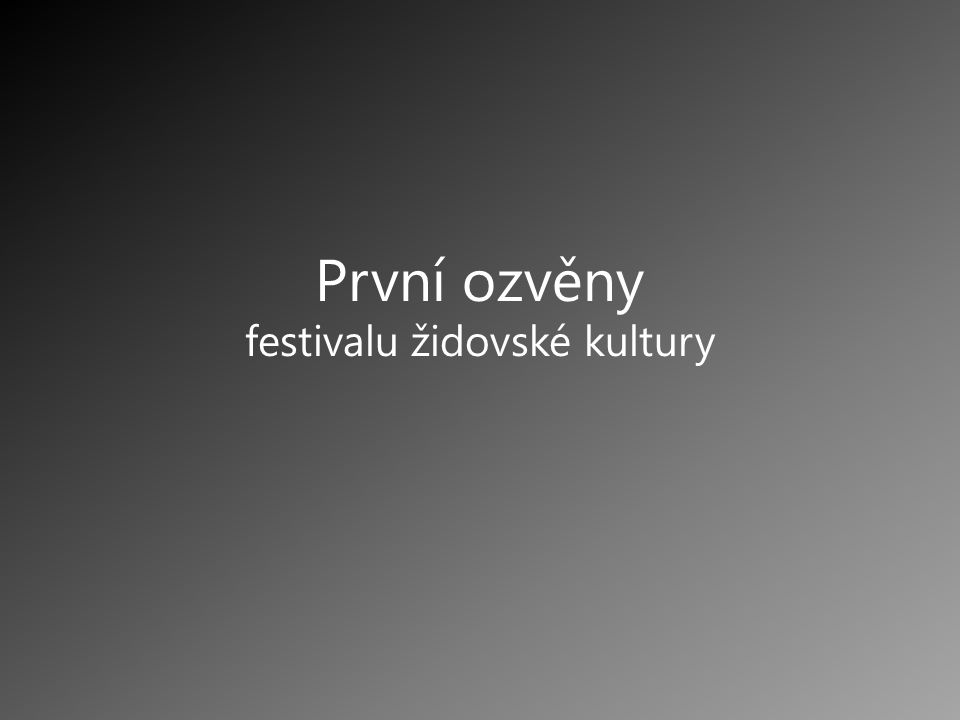 festivalu židovské kultury