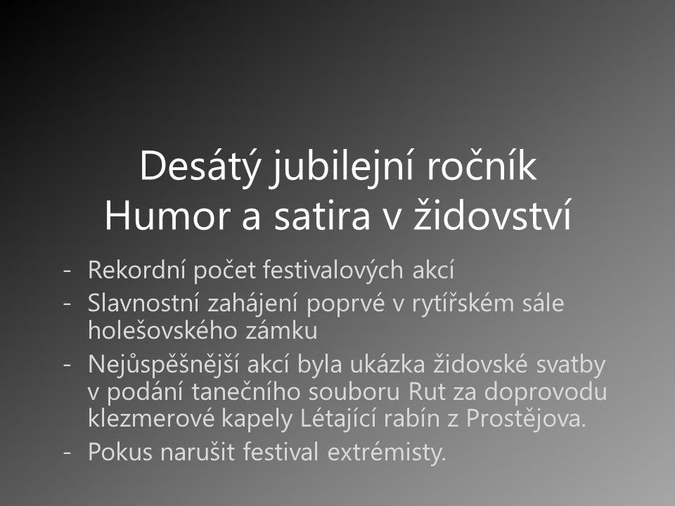 Desátý jubilejní ročník Humor a satira v židovství