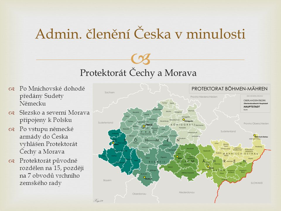 Admin. členění Česka v minulosti