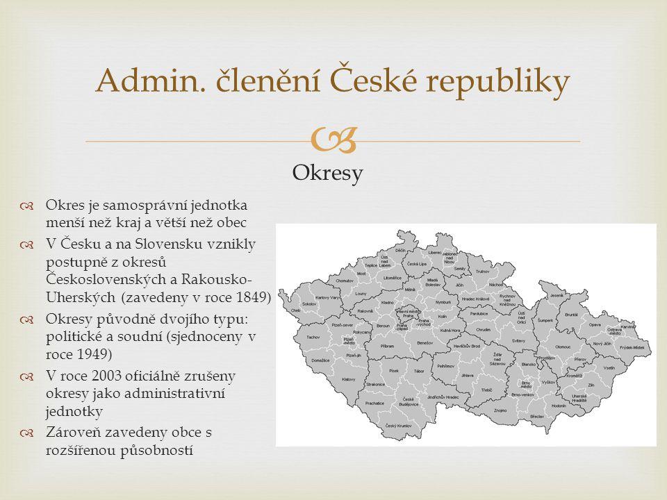 Admin. členění České republiky