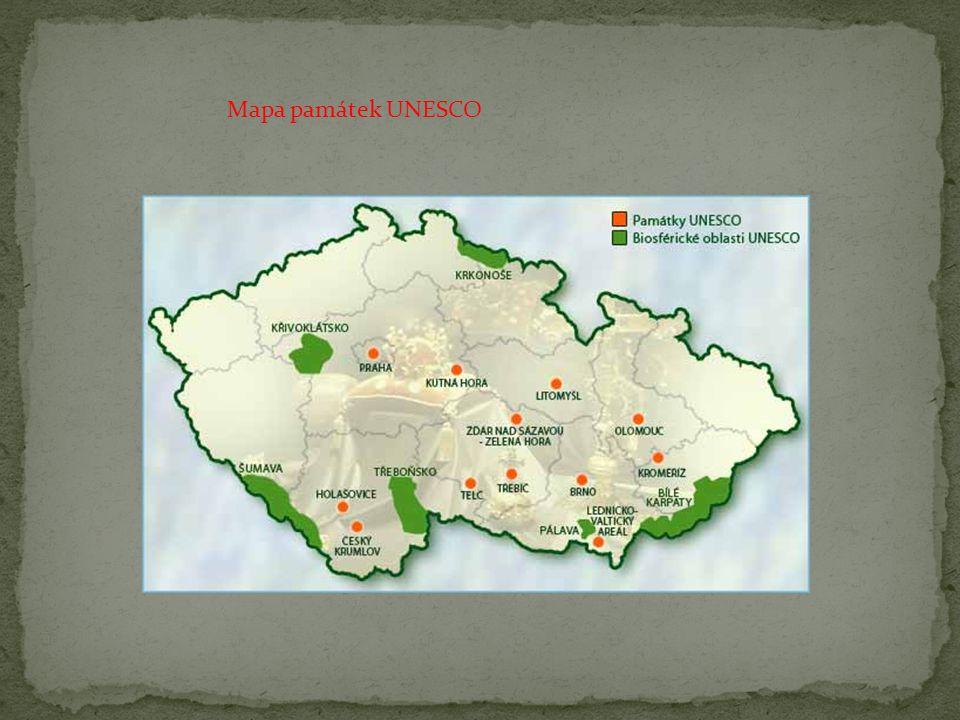 Mapa památek UNESCO