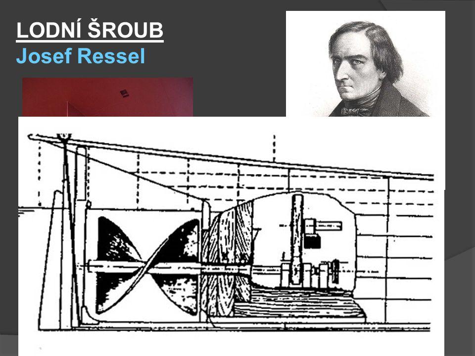 LODNÍ ŠROUB Josef Ressel