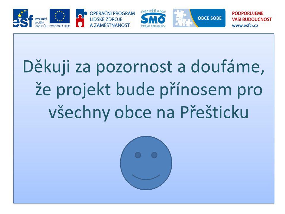 Děkuji za pozornost a doufáme, že projekt bude přínosem pro všechny obce na Přešticku