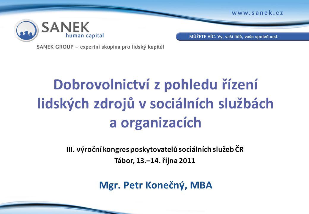 III. výroční kongres poskytovatelů sociálních služeb ČR