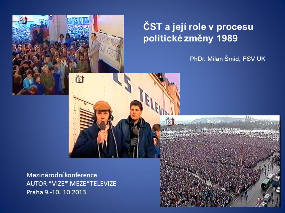 ČST a její role v procesu politické změny 1989