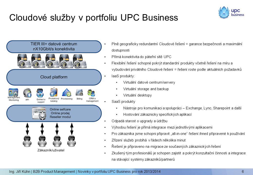 Cloudové služby v portfoliu UPC Business