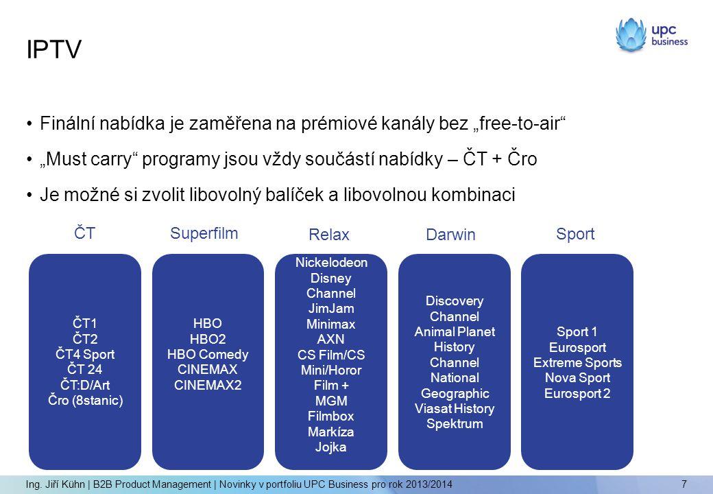 """IPTV Finální nabídka je zaměřena na prémiové kanály bez """"free-to-air"""