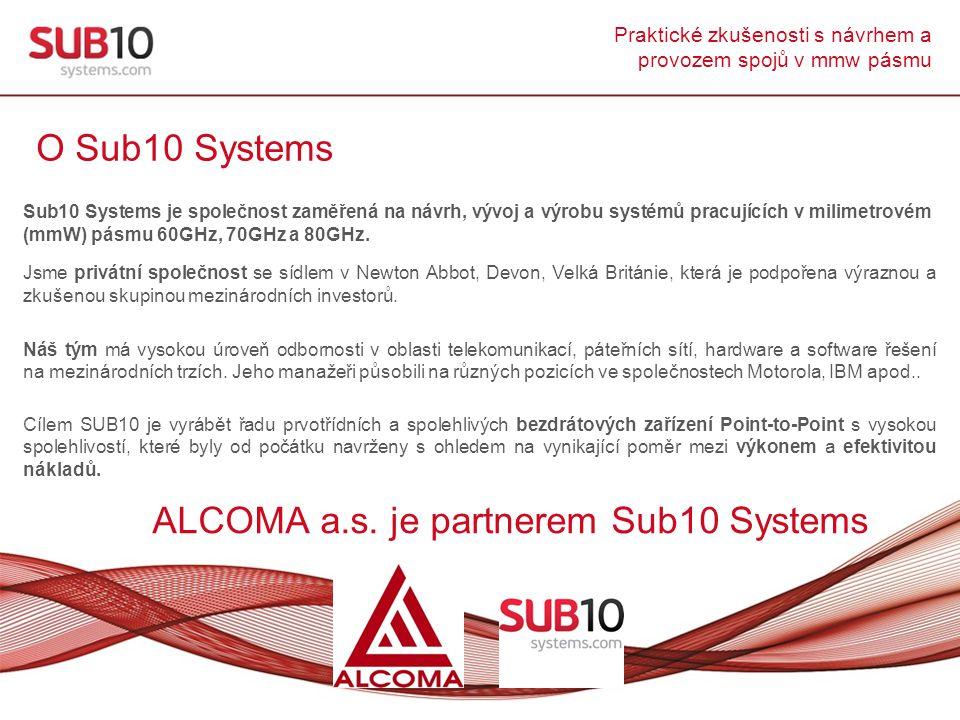 ALCOMA a.s. je partnerem Sub10 Systems
