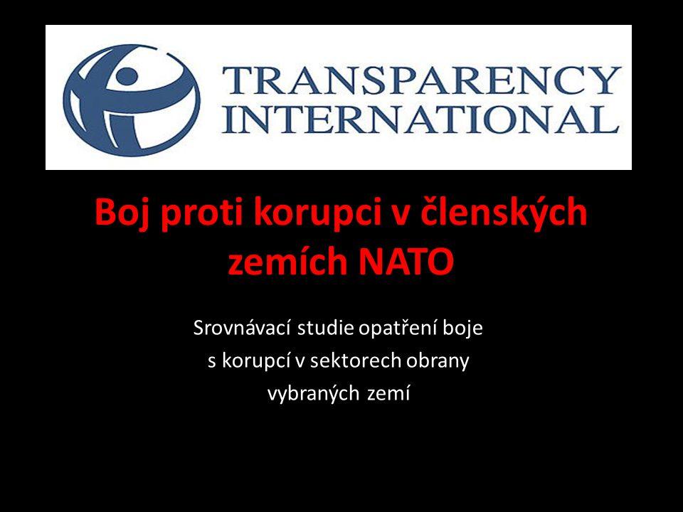Boj proti korupci v členských zemích NATO