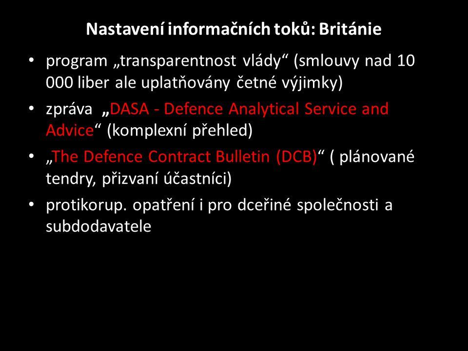 Nastavení informačních toků: Británie