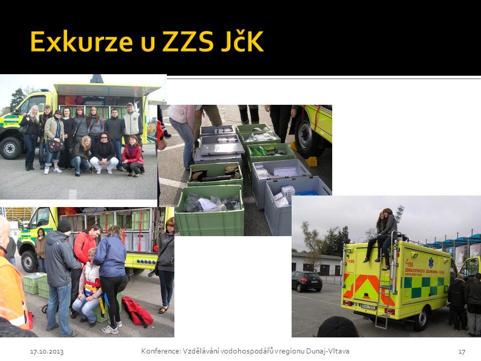 Exkurze u ZZS JčK 17.10.2013 Konference: Vzdělávání vodohospodářů v regionu Dunaj-Vltava