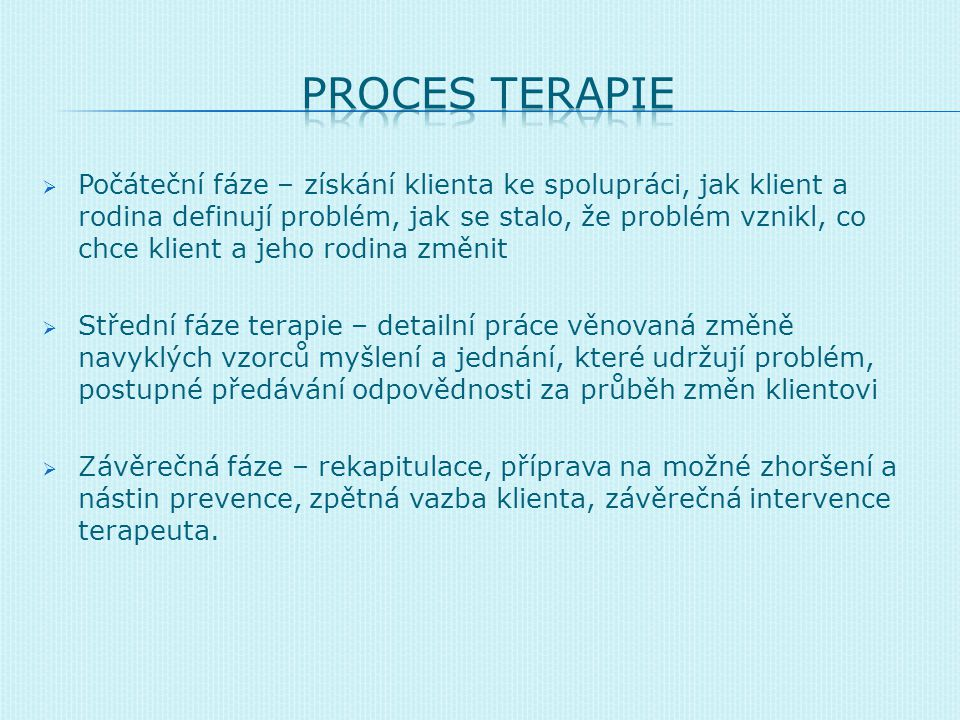 PROCES TERAPIE