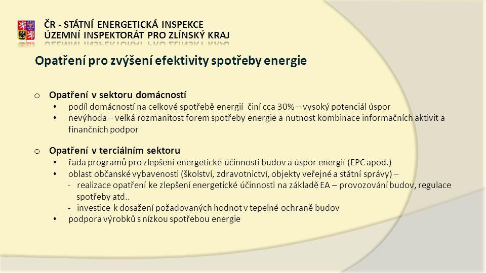 Opatření pro zvýšení efektivity spotřeby energie