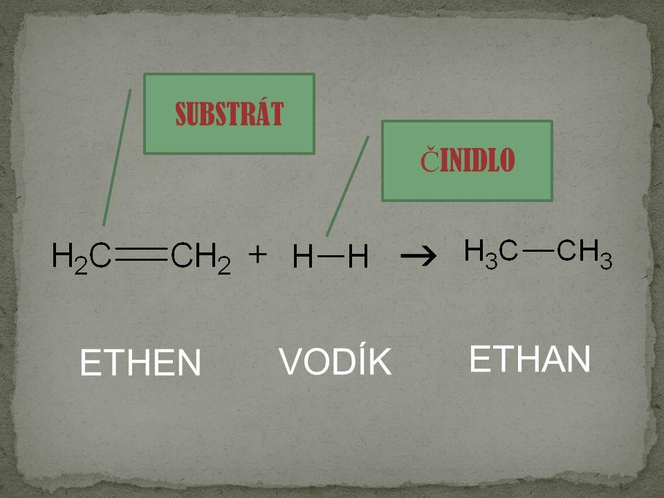SUBSTRÁT ČINIDLO  + ETHEN VODÍK ETHAN