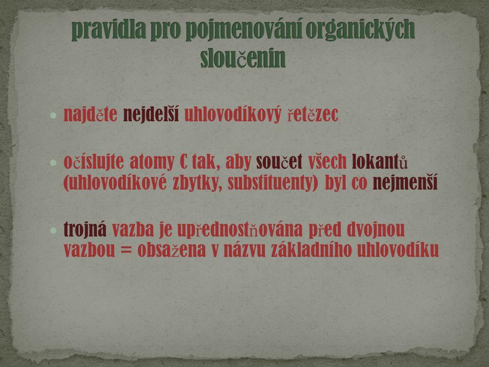 pravidla pro pojmenování organických sloučenin