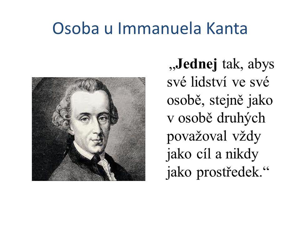 Osoba u Immanuela Kanta
