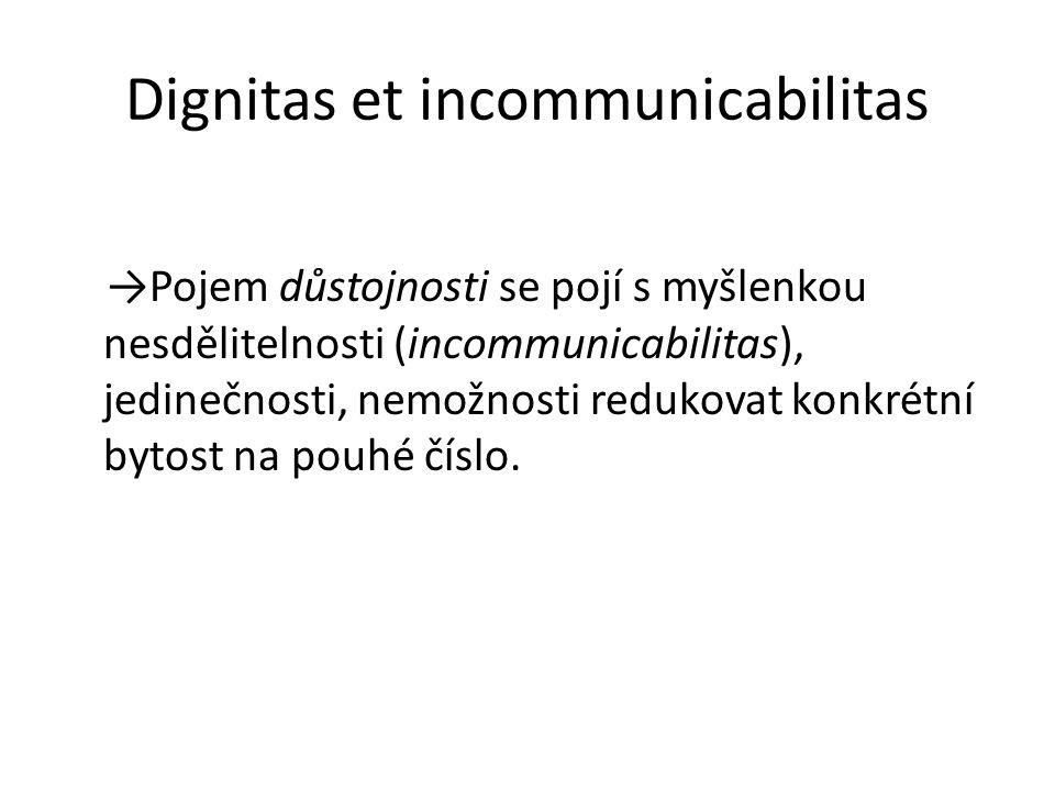 Dignitas et incommunicabilitas