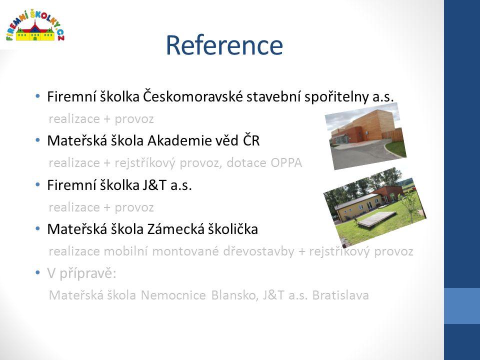 Reference Firemní školka Českomoravské stavební spořitelny a.s.