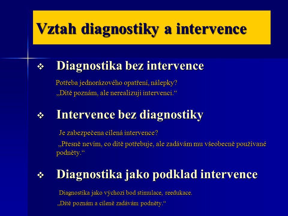 Vztah diagnostiky a intervence