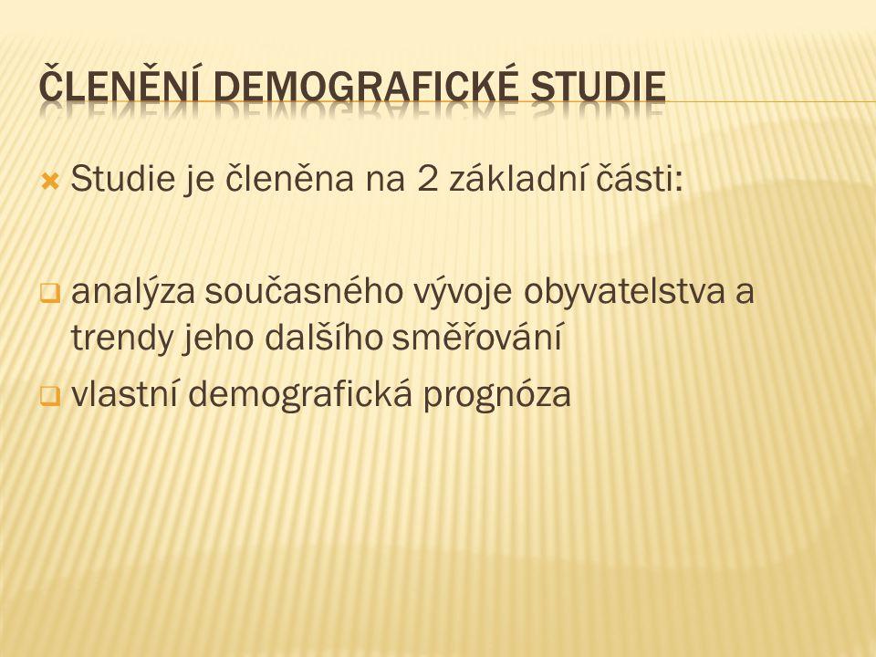 Členění demografické studie