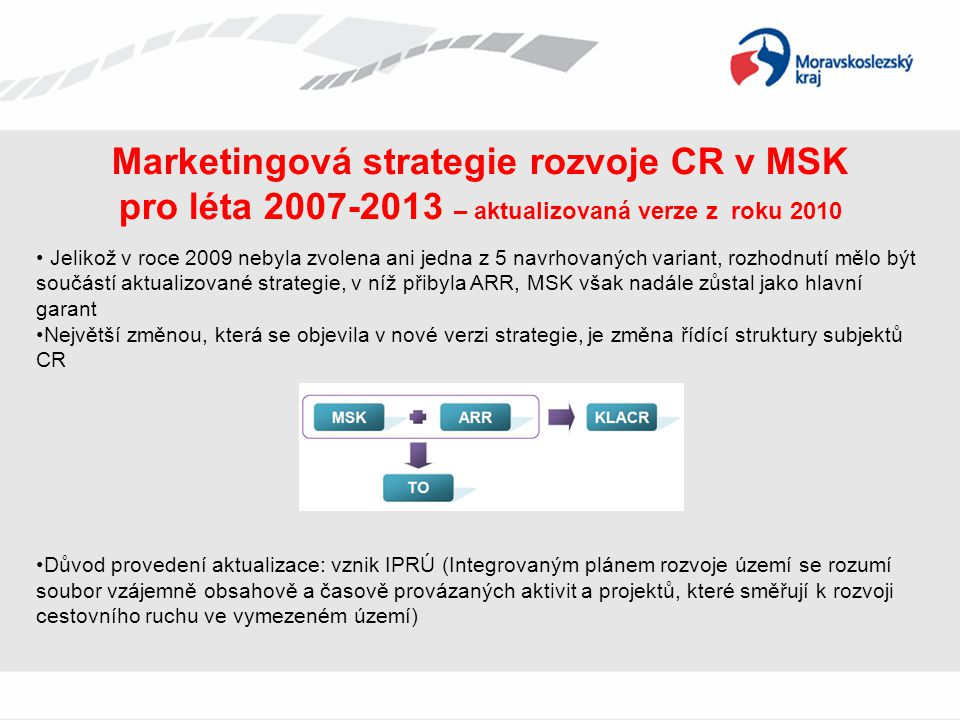 Marketingová strategie rozvoje CR v MSK