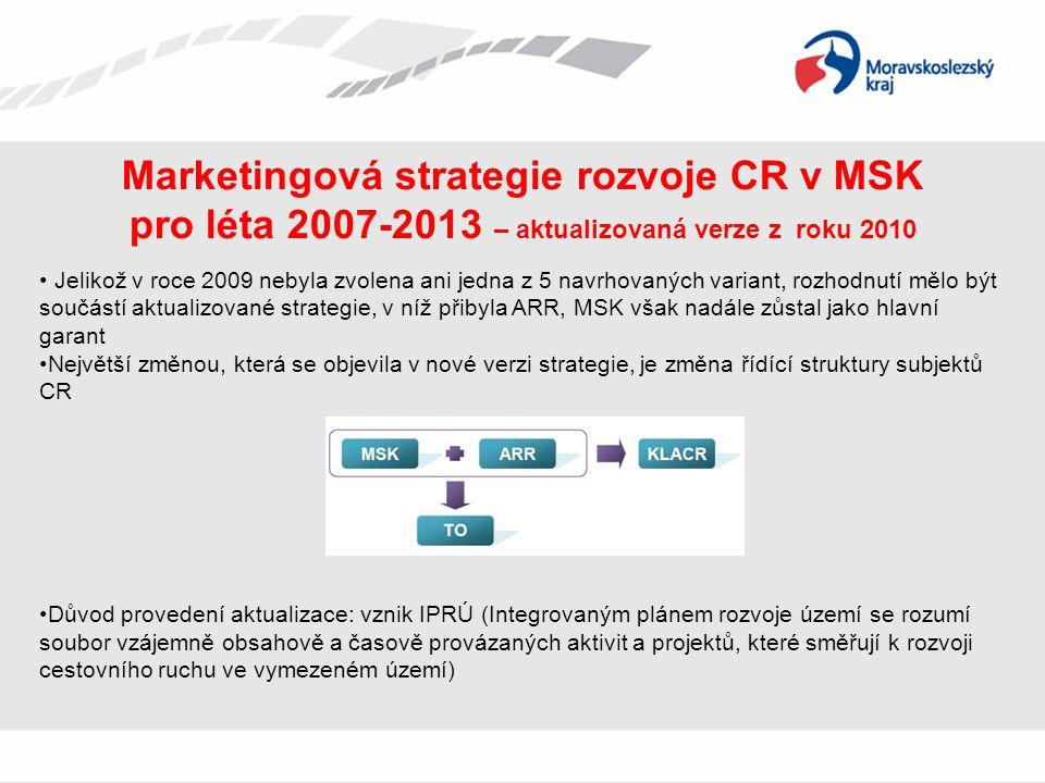 Marketingová strategie rozvoje CR v MSK