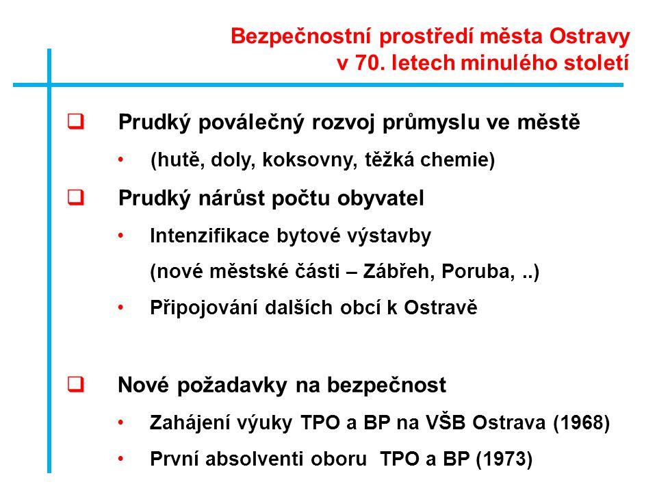 Bezpečnostní prostředí města Ostravy v 70. letech minulého století