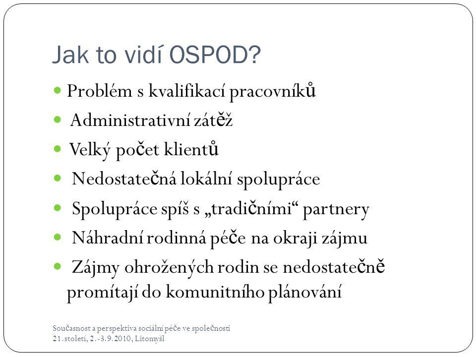 Jak to vidí OSPOD Problém s kvalifikací pracovníků