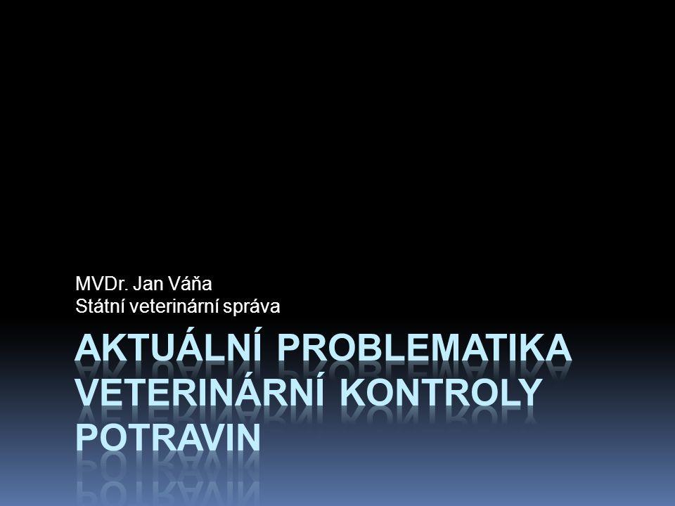 Aktuální problematika veterinární kontroly potravin