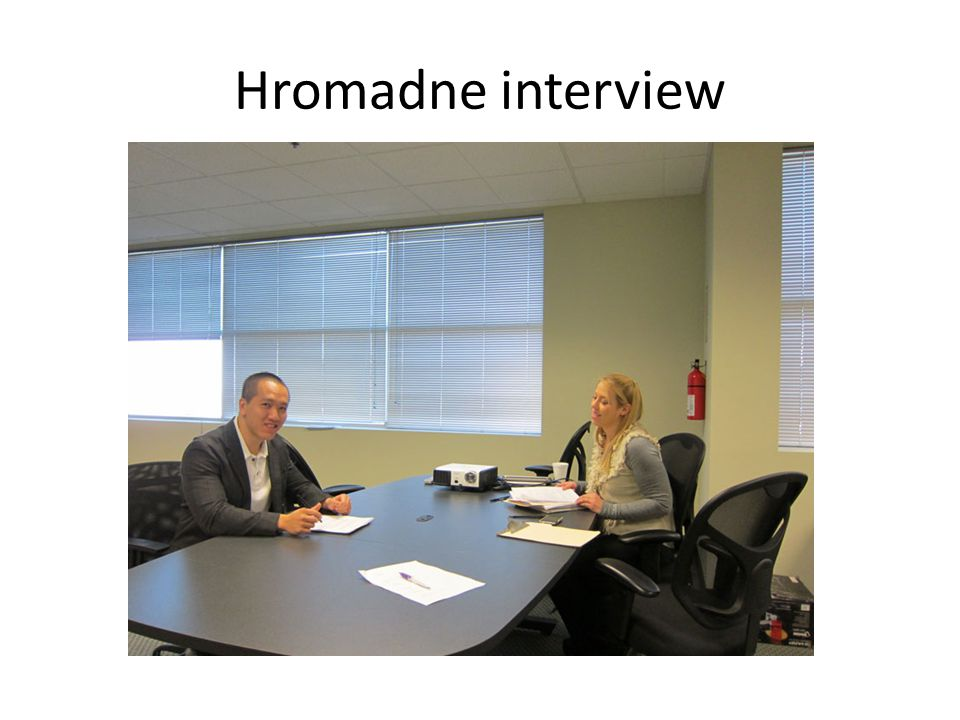 Hromadne interview