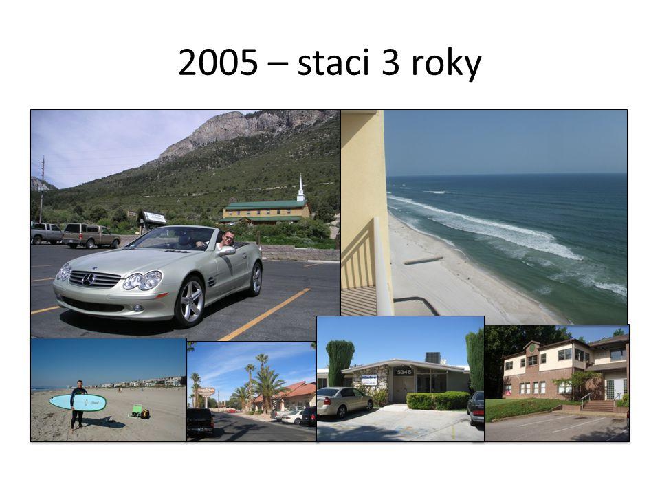 2005 – staci 3 roky