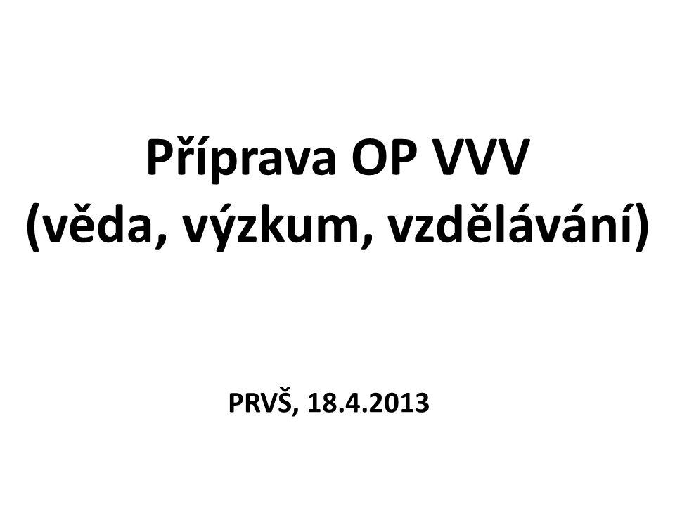 Příprava OP VVV (věda, výzkum, vzdělávání)