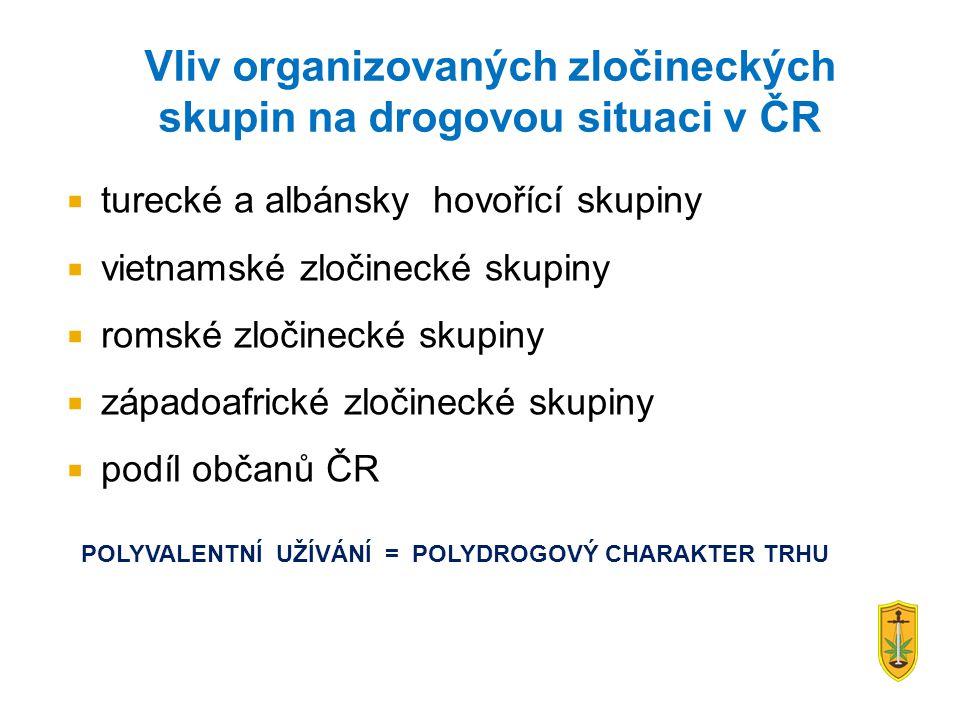 Vliv organizovaných zločineckých skupin na drogovou situaci v ČR