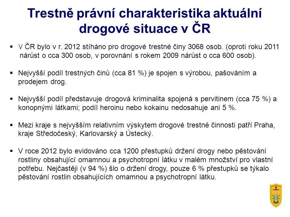Trestně právní charakteristika aktuální drogové situace v ČR