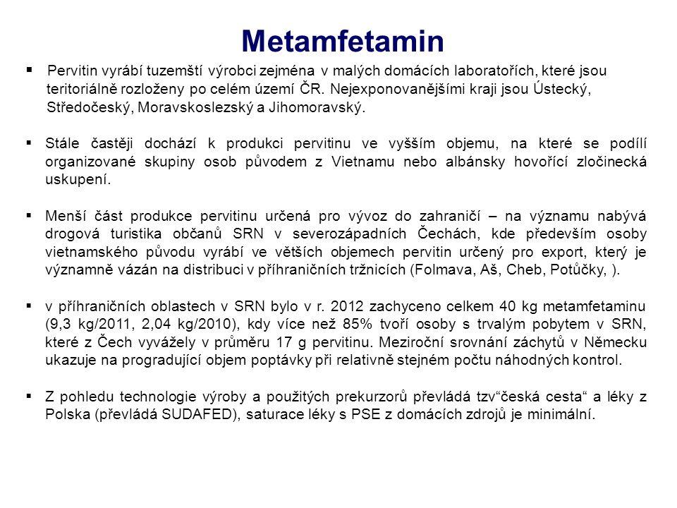 Metamfetamin Pervitin vyrábí tuzemští výrobci zejména v malých domácích laboratořích, které jsou.