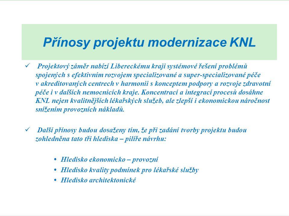 Přínosy projektu modernizace KNL