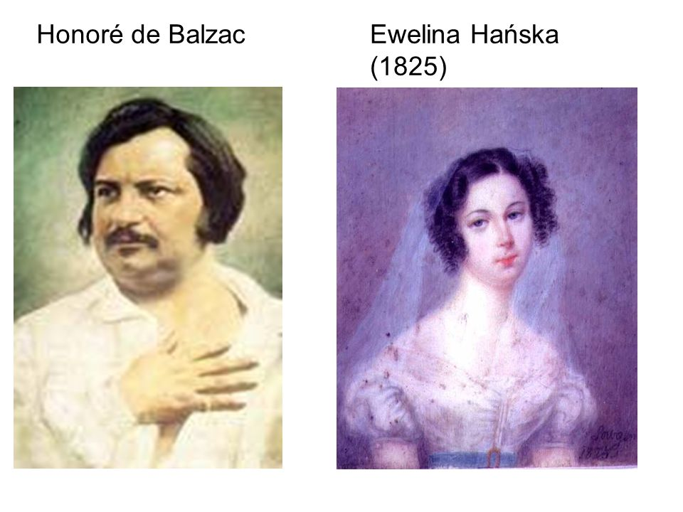 Honoré de Balzac Ewelina Hańska (1825)