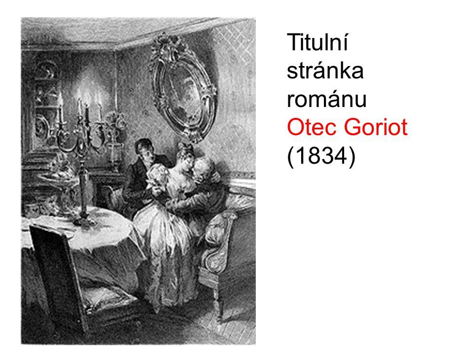 Titulní stránka románu Otec Goriot (1834)