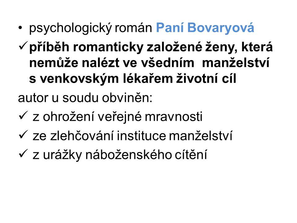 psychologický román Paní Bovaryová