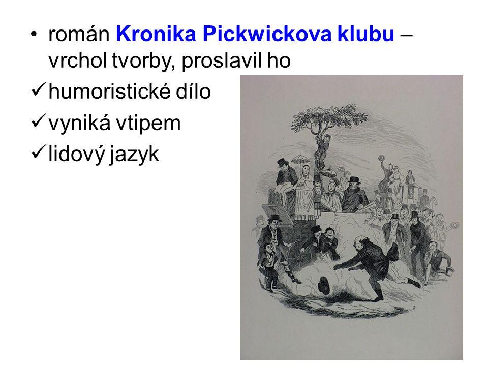 román Kronika Pickwickova klubu – vrchol tvorby, proslavil ho