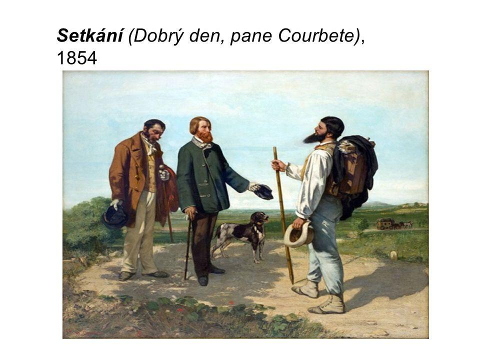Setkání (Dobrý den, pane Courbete), 1854