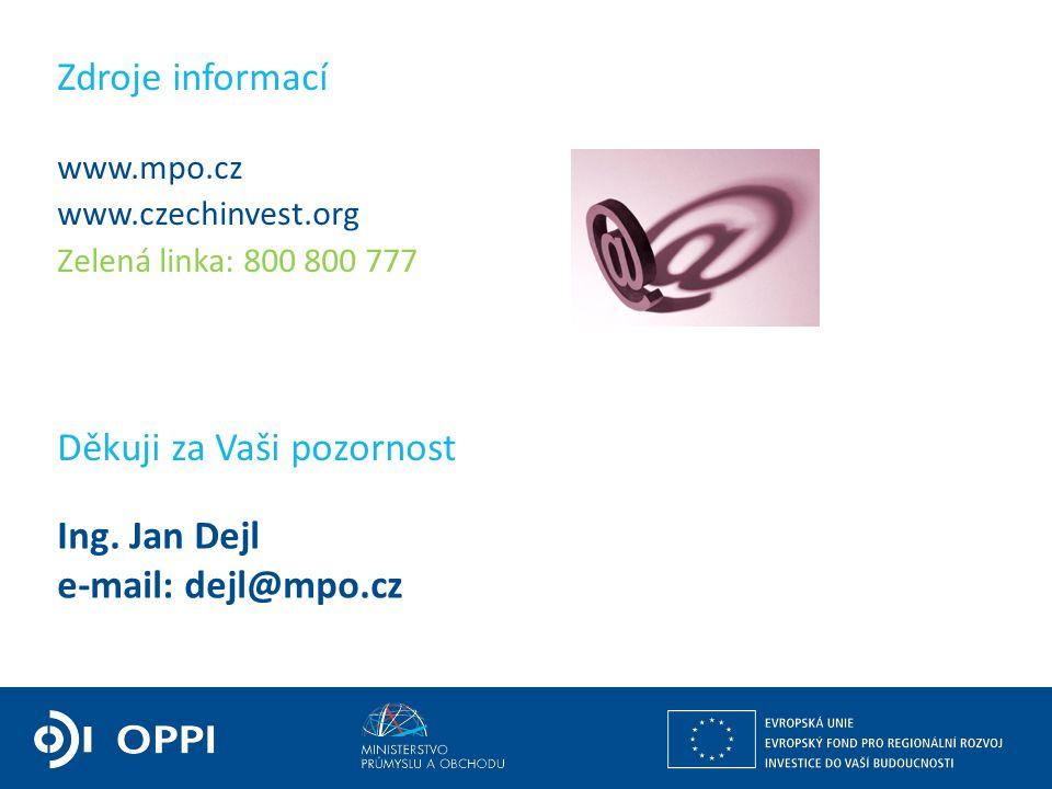Ing. Jan Dejl e-mail: dejl@mpo.cz