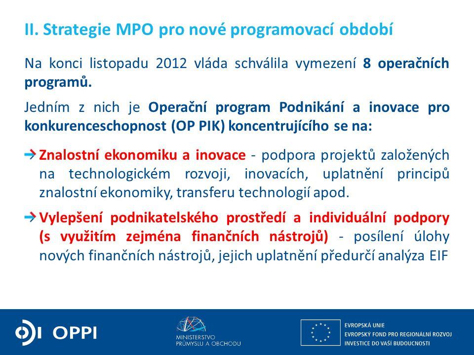 II. Strategie MPO pro nové programovací období