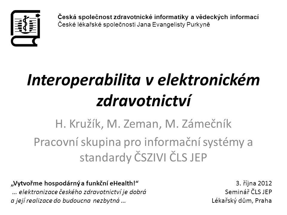 Interoperabilita v elektronickém zdravotnictví