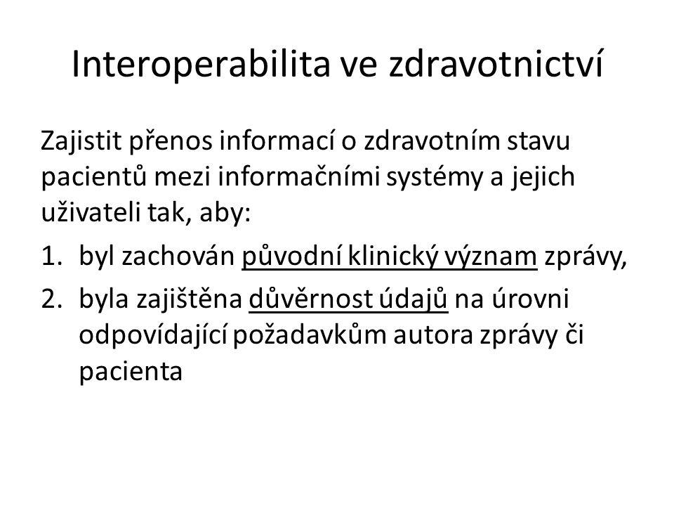 Interoperabilita ve zdravotnictví